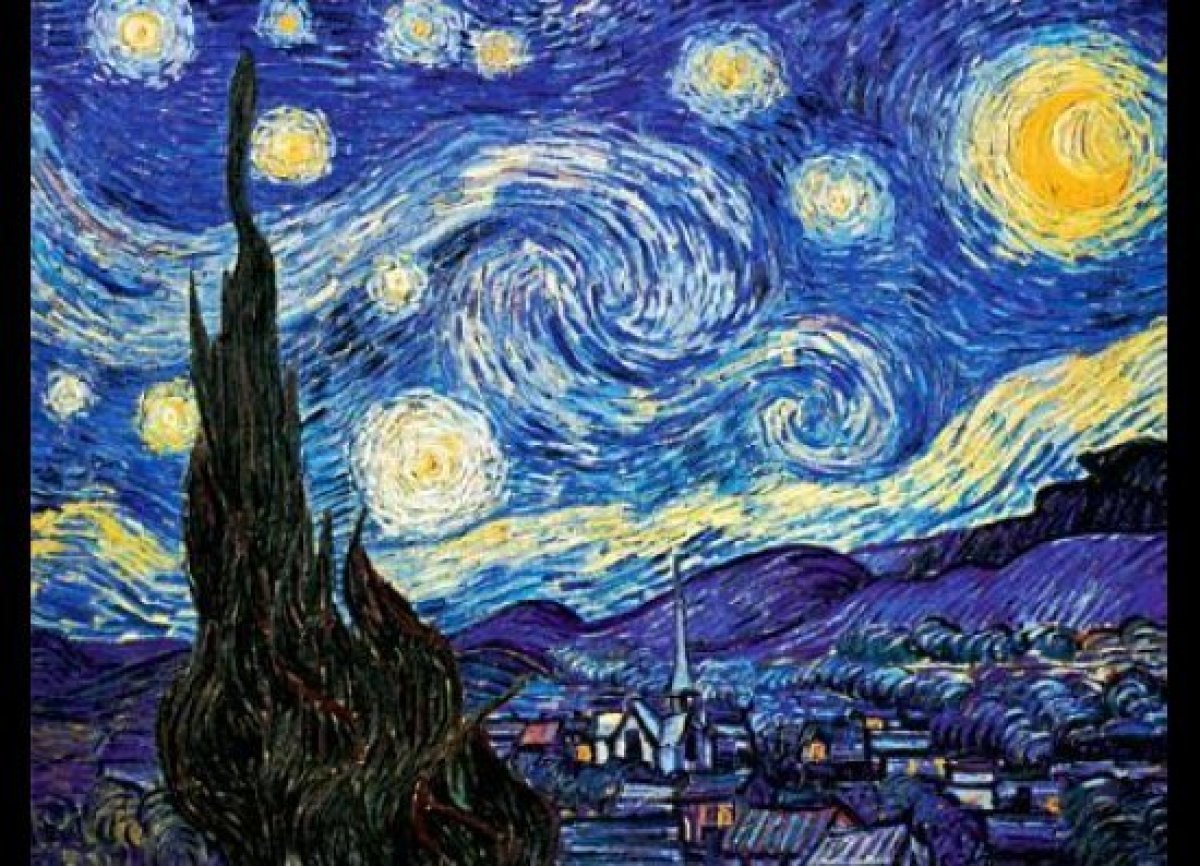 """The first piece of art I really loved was Van Gogh's """"Starry Night."""" Yeah, yeah, everyone loves it. But how could you not?! I"""
