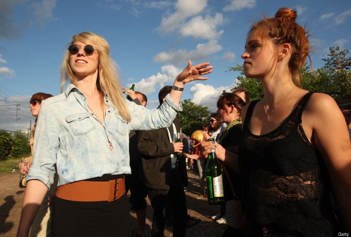 Attendees dance at the second annual Hipster Olympics on July 21, 2012 in Berlin, Germany. With events such as the 'Horn-Rimm