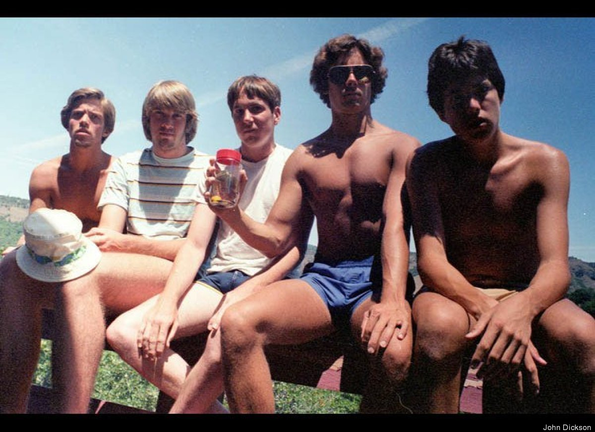 The photo that started it all. From left to right: John Wardlaw, Mark Rumer, Dallas Burney, John Molony and John Dickson.