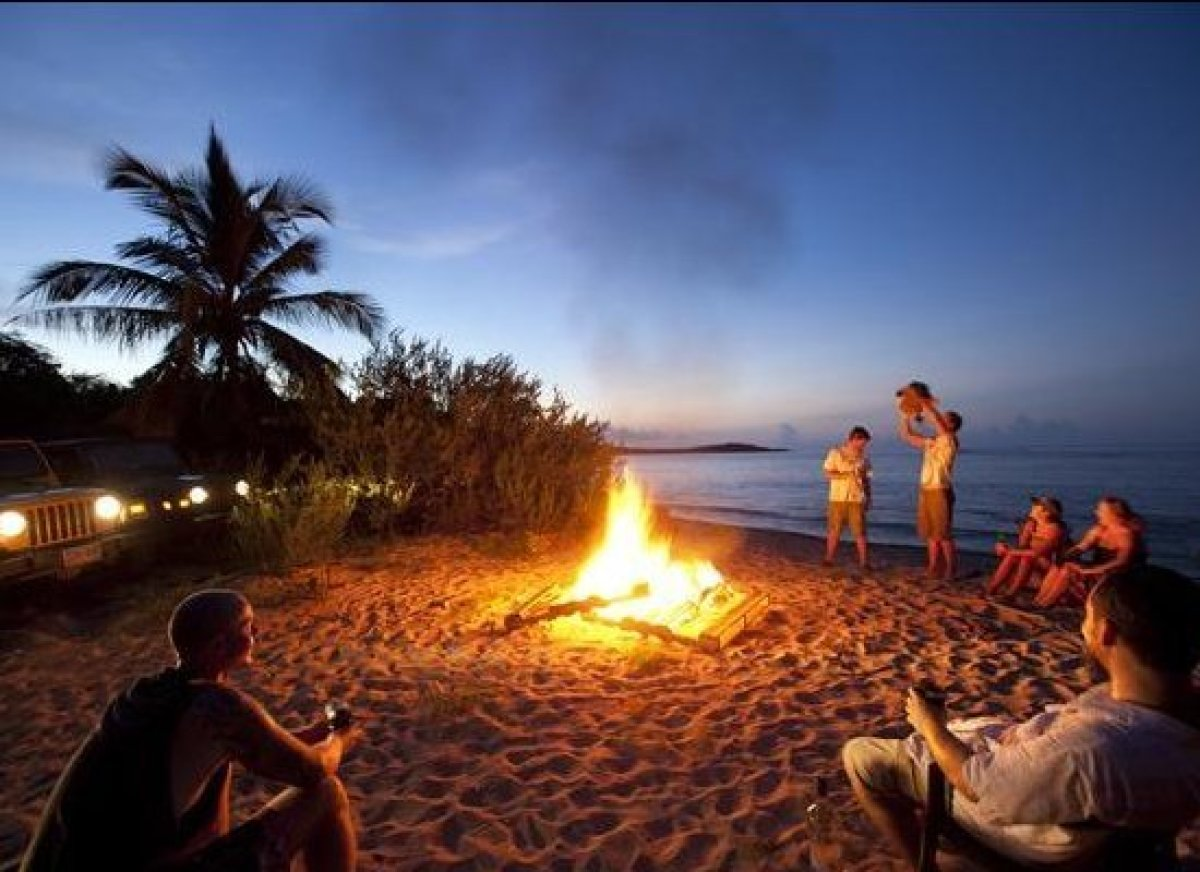 You could always live nights like these -- an impromptu bonfire on your own private beach? Not too shabby. 