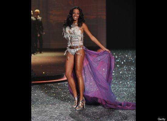 NEW YORK - NOVEMBER 10:  Model Selita Ebanks  walks the runway during the 2010 Victoria's Secret Fashion Show at the Lexingto