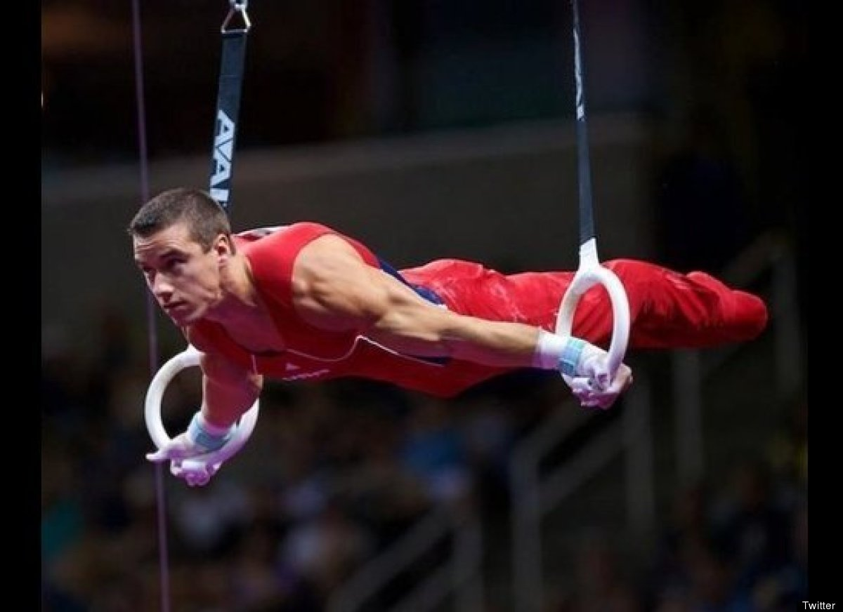 Dalton, 20, is a student at the University of Oklahoma and a member of the men's U.S. gymnastics team. In 2011 he won the <a