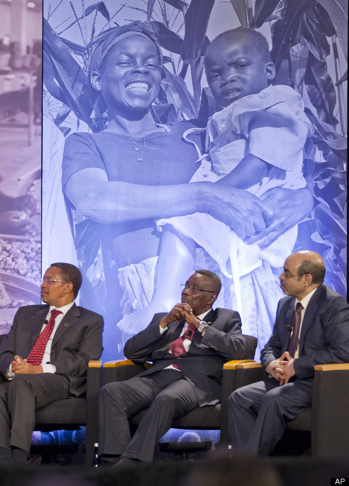 African leaders attend the Symposium on Global Agriculture and Food Security at the Chicago Council on Global Affairs, Friday