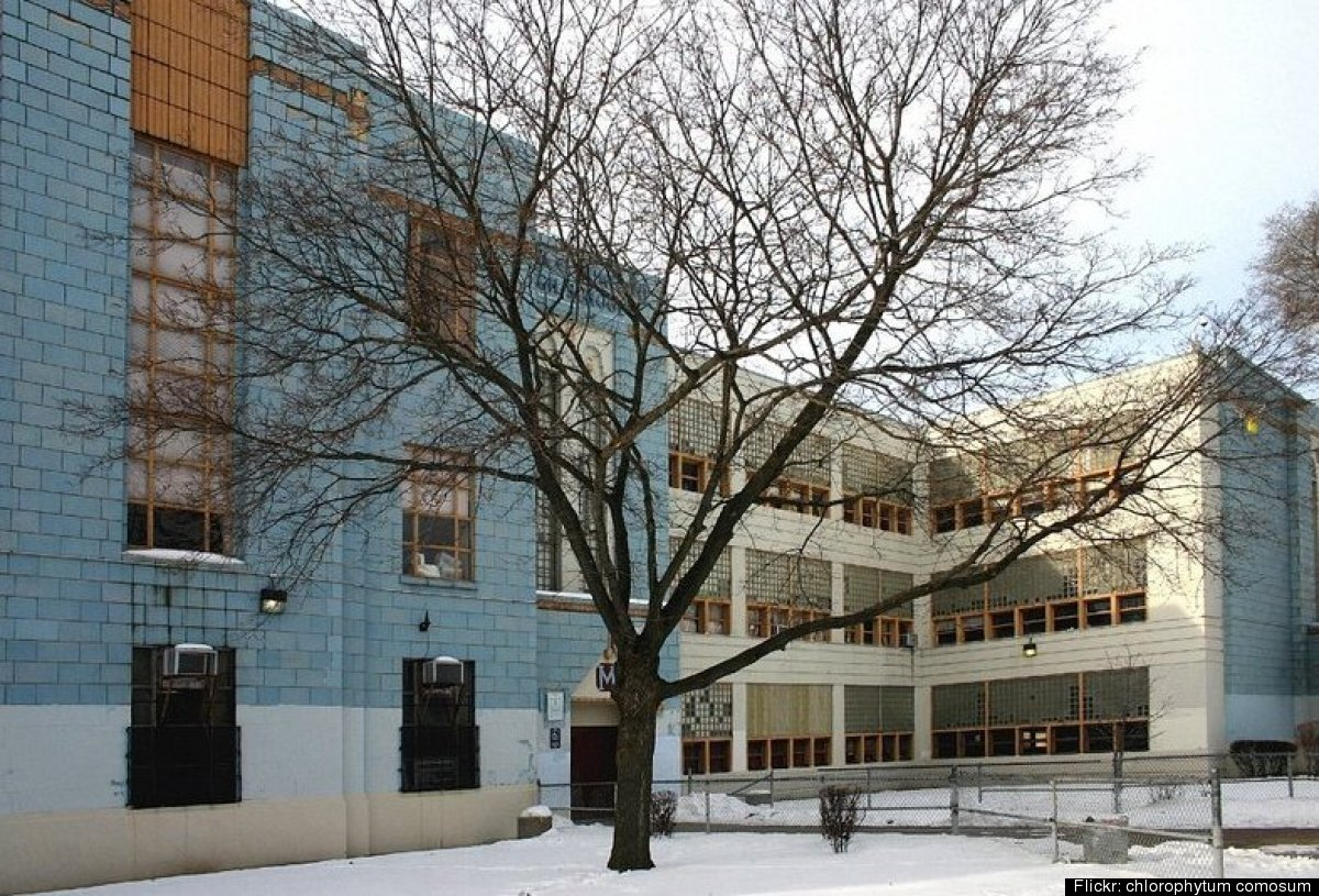 Demolition of Samuel C. Mumford High School, built in northwest Detroit in the late '40s, began in July 2012. Construction is