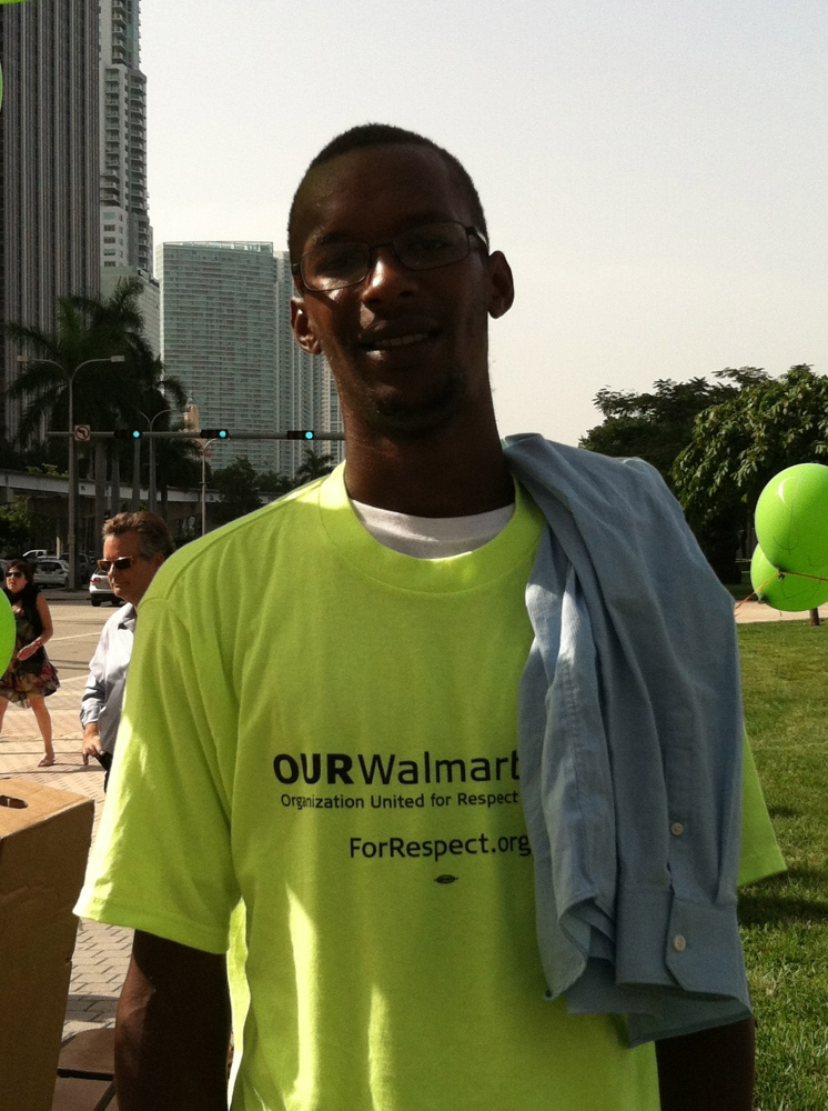 """""""[The minimum wage not being increased] affects me by not being able to take care of my family.""""  A Walmart cart collector,"""