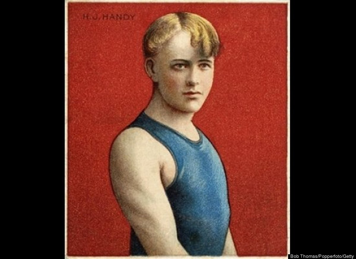 """Jamison """"Jam"""" Handy (1886-1983) earned a bronze medal for finishing third in the 440-yard breaststroke in the 1904 St. Louis"""