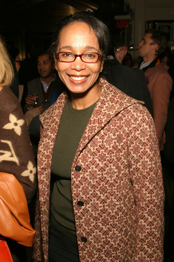 NEW YORK - OCTOBER 20: Fashion writer Robin Givhan poses at the book launch party for 'Tom Ford:Ten Years' at Bergdorf Goodma