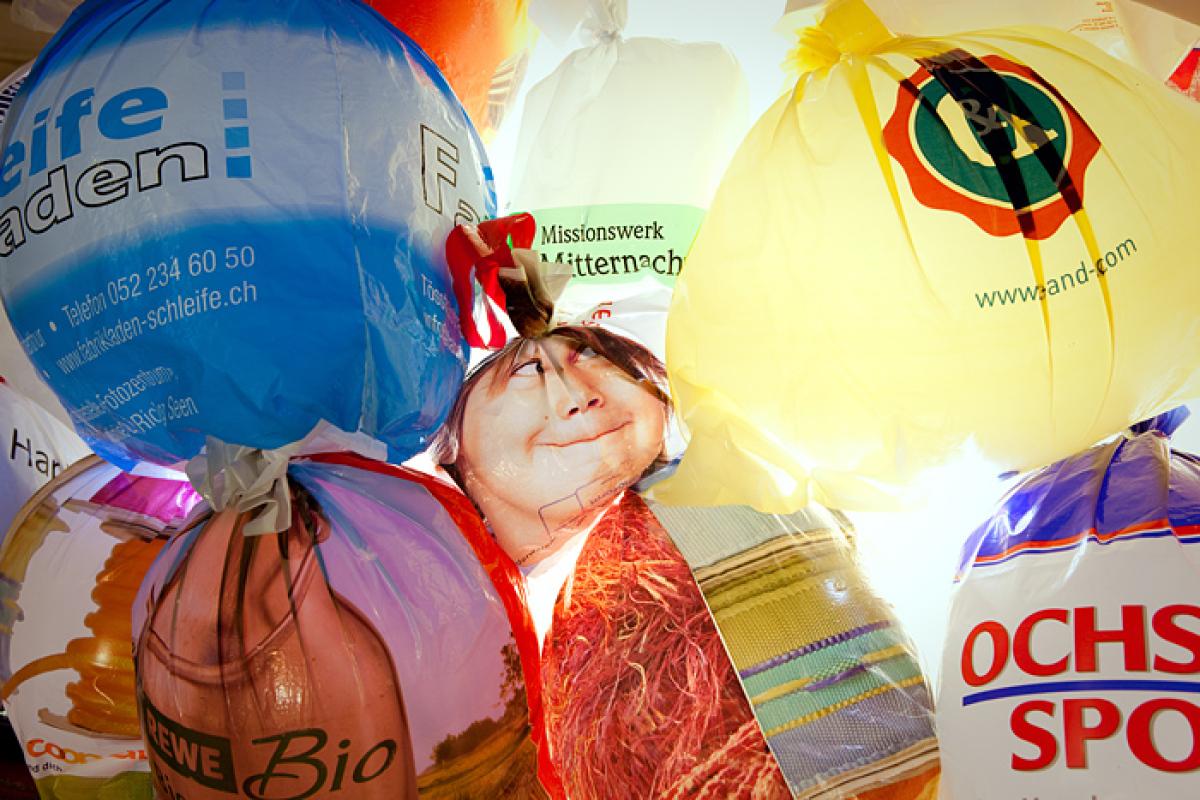 Luzinterruptus, 'Plastic Garbage Guarding The Museum' 2012