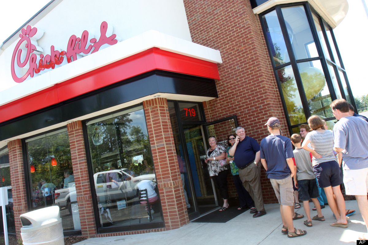 "After it was discovered that <a href=""http://www.huffingtonpost.com/2012/07/02/chick-fil-a-anti-gay-group-donations-_n_164460"