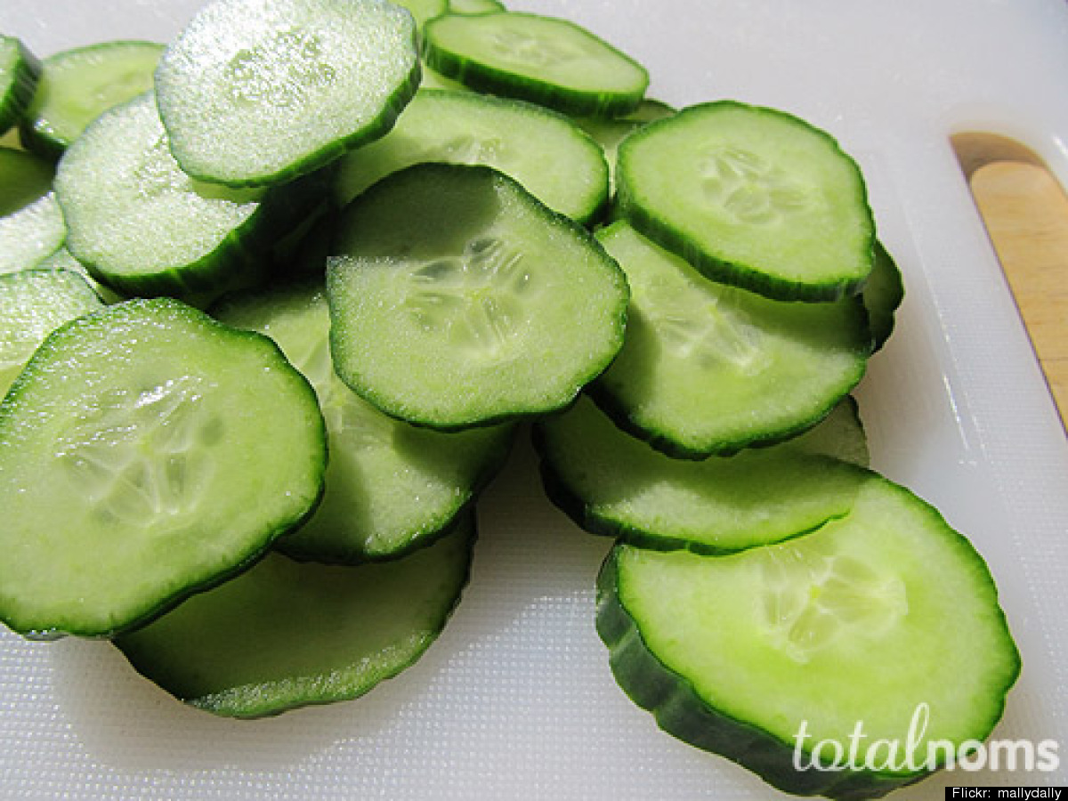 Cucumber cools, soothes and hydrates the skin, and this mask couldn't be easier. Wash and slice a chilled cucumber into thin