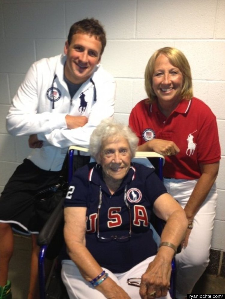 """During the Olympic Trials in Omaha Ryan gave a big cyber thank you to his mother.   """"I got to spend a little time tonight a"""