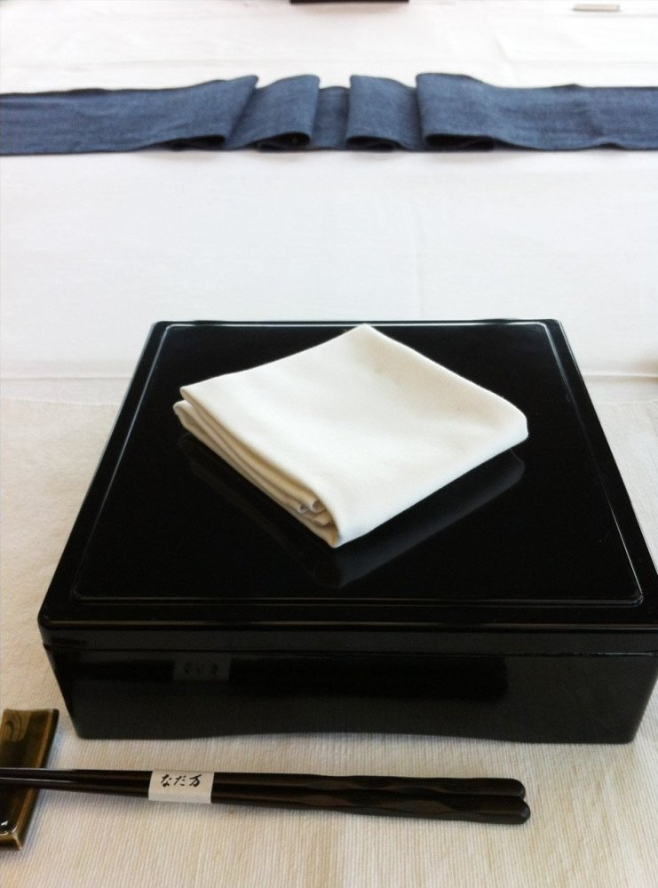 Dentsu Executives Bento Box lunch at a meeting in Tokyo.
