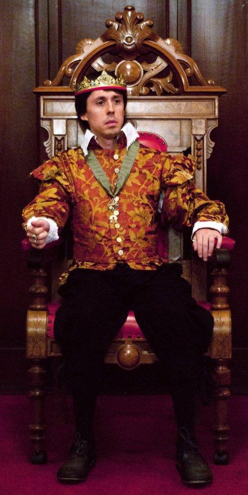 The gentle King Henry VI (Ryan Crowder) sits uneasy in the throne.  Photo by Kristen Wrzesniewski