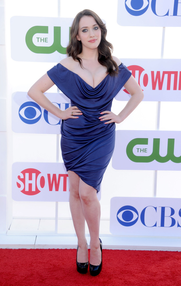 Kat Dennings appeared for the CBS, Showtime and the CW 2012 TCA Summer Tour Party in Beverly Hills on July 29 in an ensemble