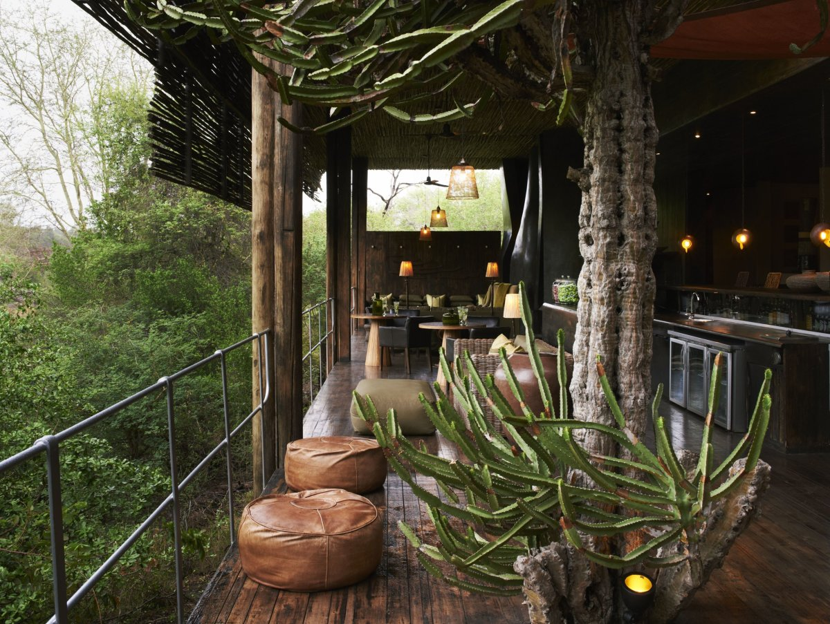Located within a private concession of Kruger National Park, the six suites at Singita Sweni Lodge are elevated on stilts to