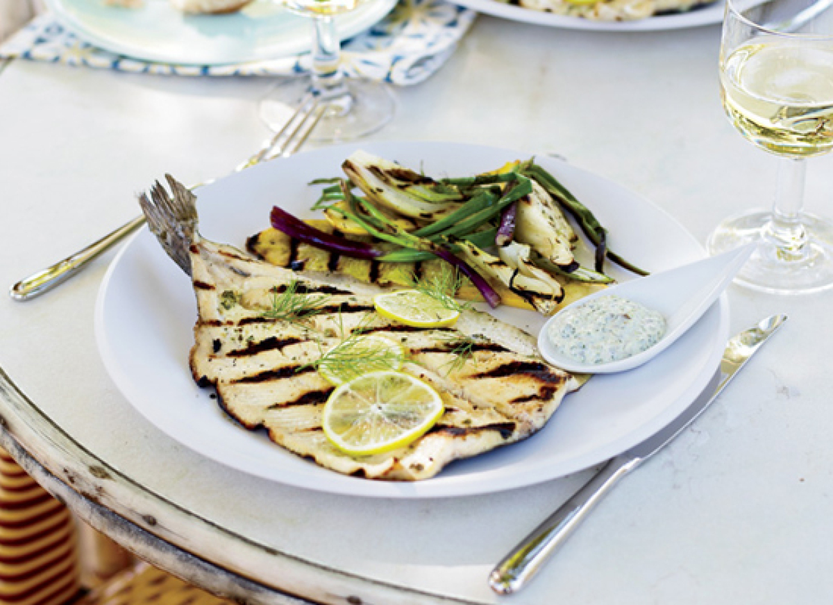 """<strong>Get the <a href=""""http://www.huffingtonpost.com/2011/10/27/grilled-trout-with-lemon-_n_1058473.html"""" target=""""_hplink"""">"""