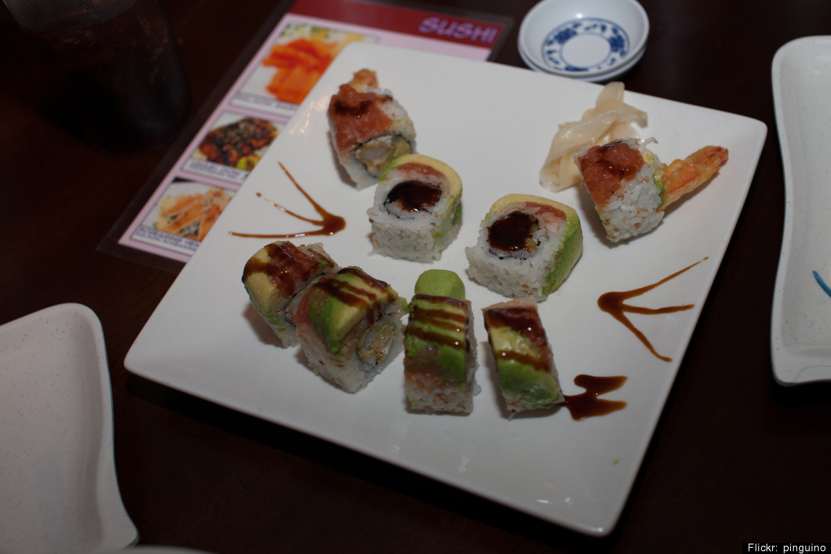 """""""Human-grade sushi is generally safe for people, but it can cause gastrointestinal upset in cats,"""" says Dr. Perea. """"There is"""