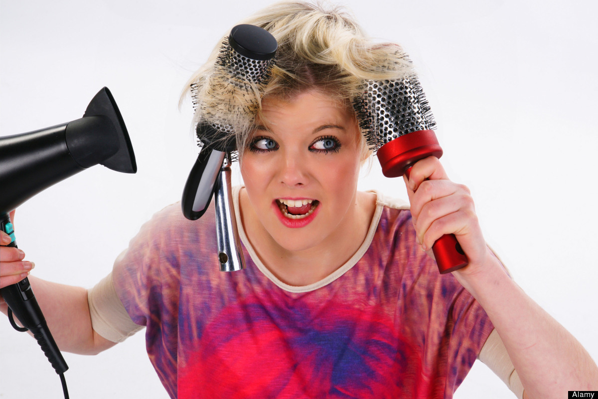 If there are three hairbrushes trapped in your hair, you're definitely having a bad day.