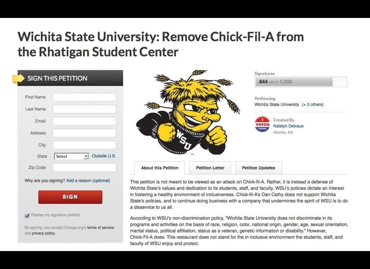 "<a href=""https://www.change.org/petitions/wichita-state-university-remove-chick-fil-a-from-the-rhatigan-student-center?utm_ca"