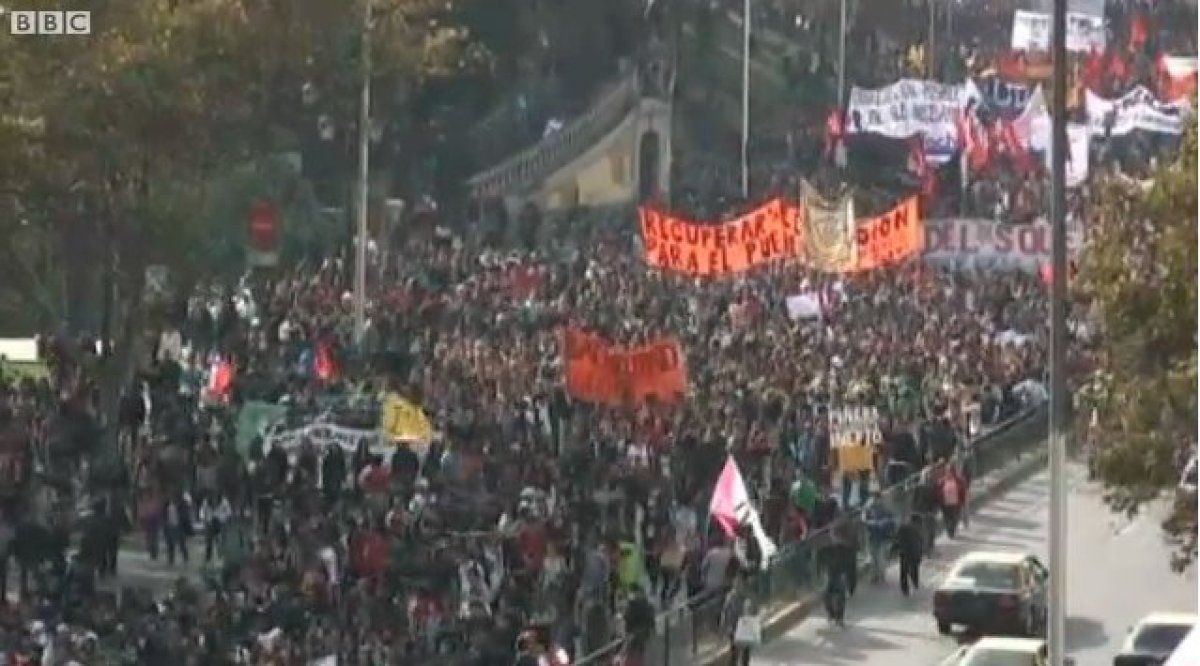 Students began demonstrating after the Chilean government revealed that some higher education leaders took home profits from