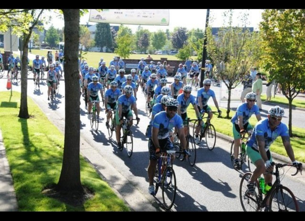 113 cyclists launch from Banks, Ore. for the 20th Anniversary STIHL Tour des Trees