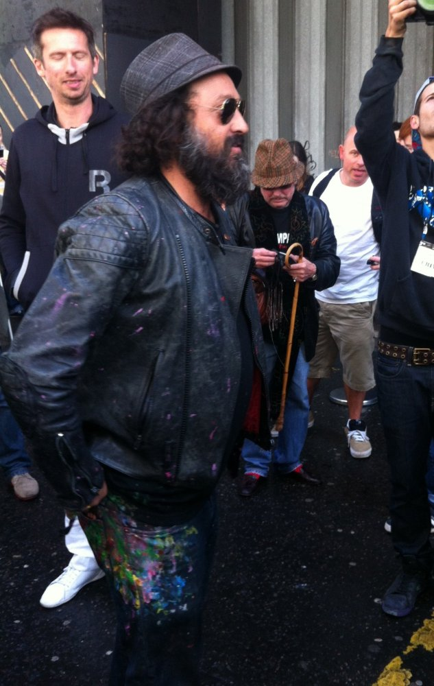Mr Brainwash (aka Thierry Guetta) who featured prominently in the controversial and clever 2010 street-art documentary 'Exit