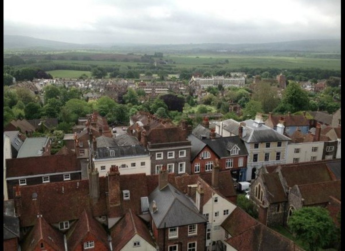View of the town of Lewes, in East Sussex, England, where I stayed during my trip. In the distant hills lies the area known a