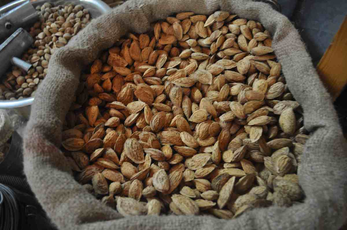 This Arab market in Nazareth offers power travel foods like almonds, pistachios and dried fruit.