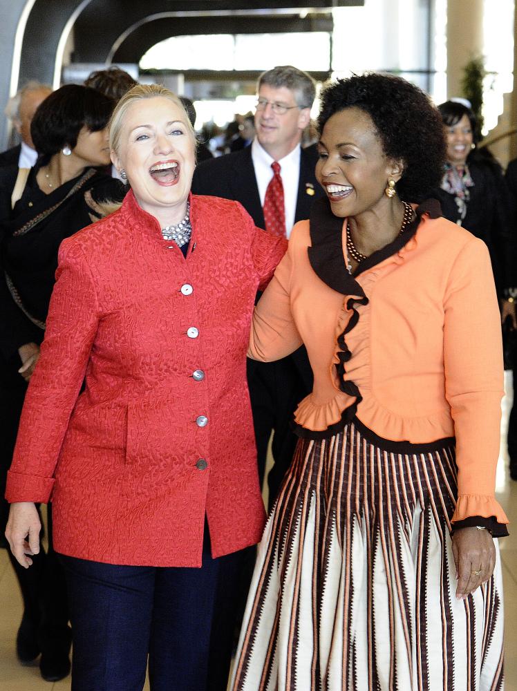 With Minister of International Relations Maite Nkoana-Mashabane  (AFP photo)