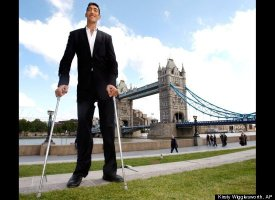 At 8 feet, 3 inch tall, Sultan Kosen was declared the world's tallest living man in 2009 after another candidate, Ukrainian L