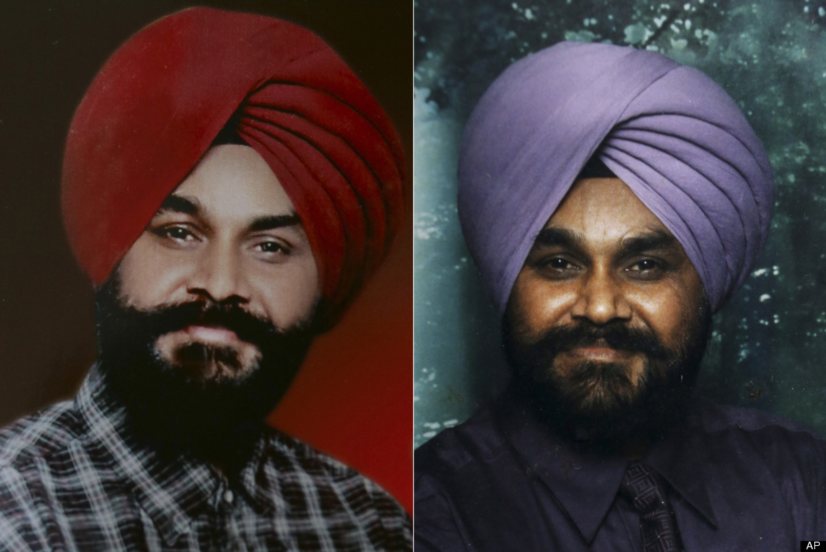 In this undated combo photo composed of two images provided by the family, Indian Ranjit Singh, right, and Sita Singh who wer