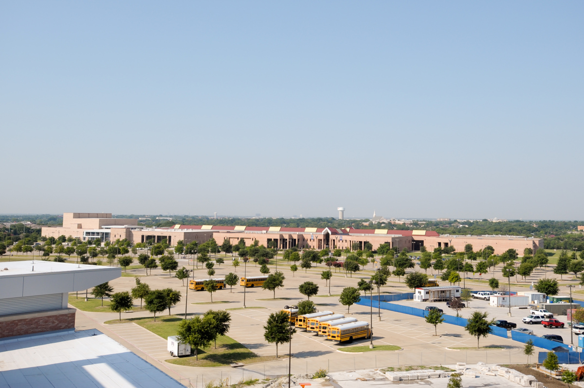 June 26, 2012 - Looking south, the Allen High School main campus (grades 10-12) can be seen in the distance from the new Alle