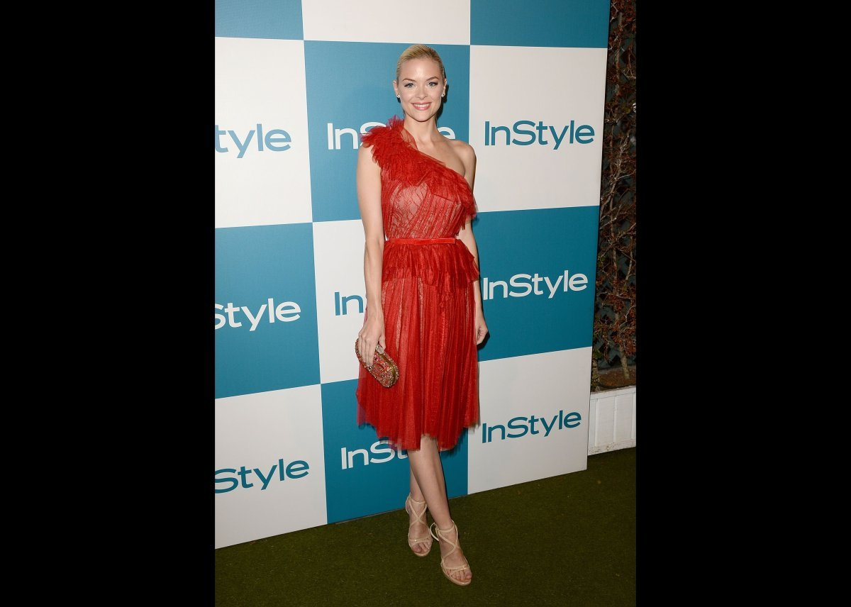 Actress Jamie King attended the 11th annual InStyle summer soiree in West Hollywood on August 8th in a summery red (and extre