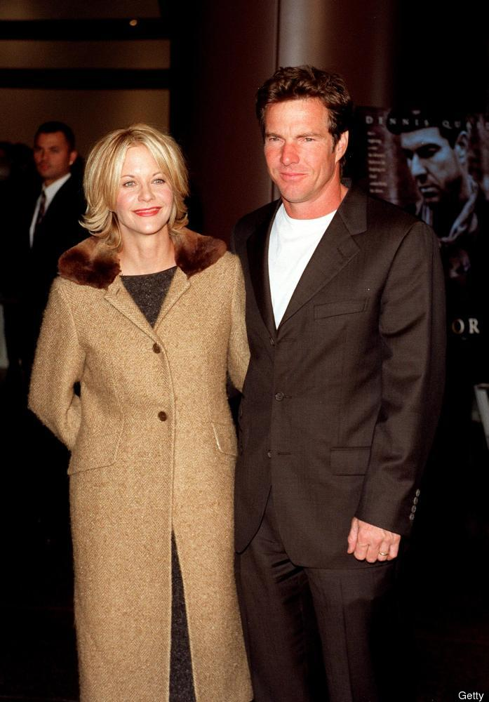 Meg Ryan cheated on her husband of nine years, Dennis Quaid, with Russell Crowe. 
