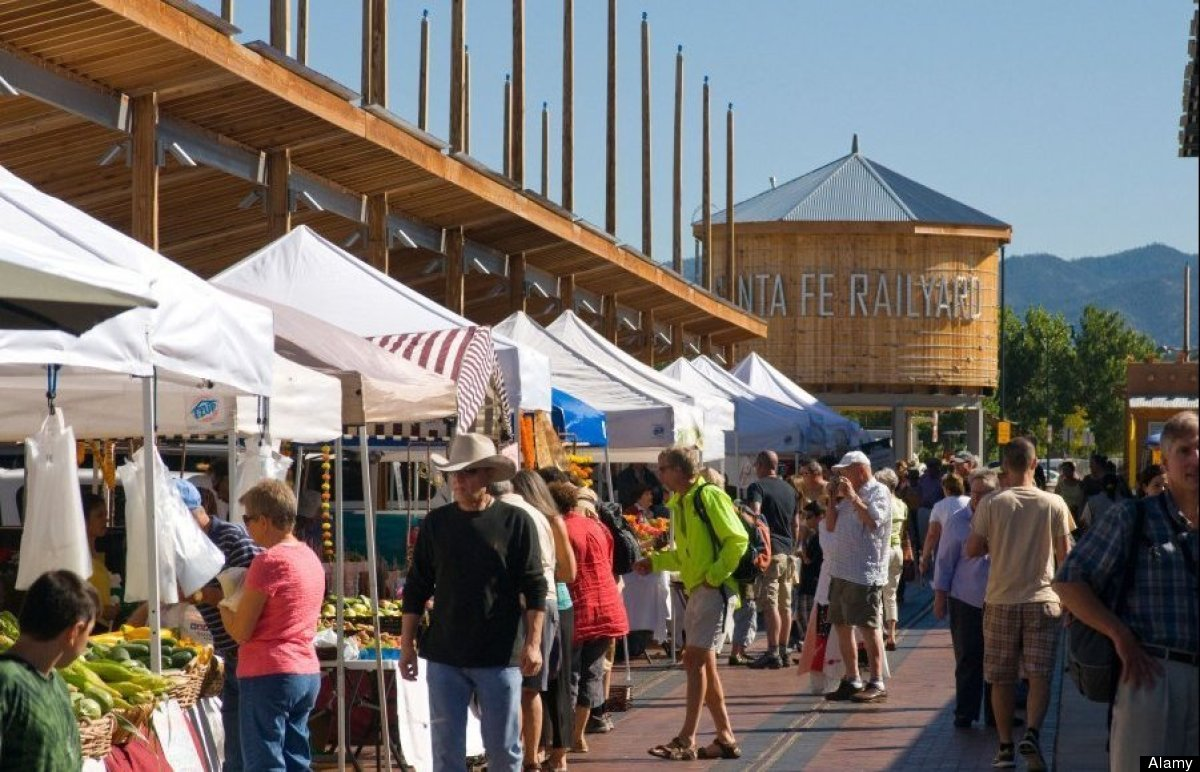 The Santa Fe Farmers Market is one of the main events in this popular tourist town in New Mexico. The thriving arts and cultu