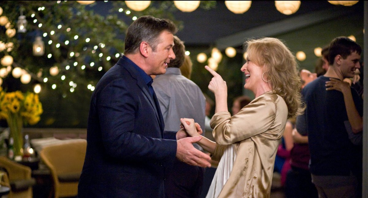 The love between Jane (Meryl Streep) and Jake (Alec Baldwin) is rekindled at their son's college graduation, despite the two