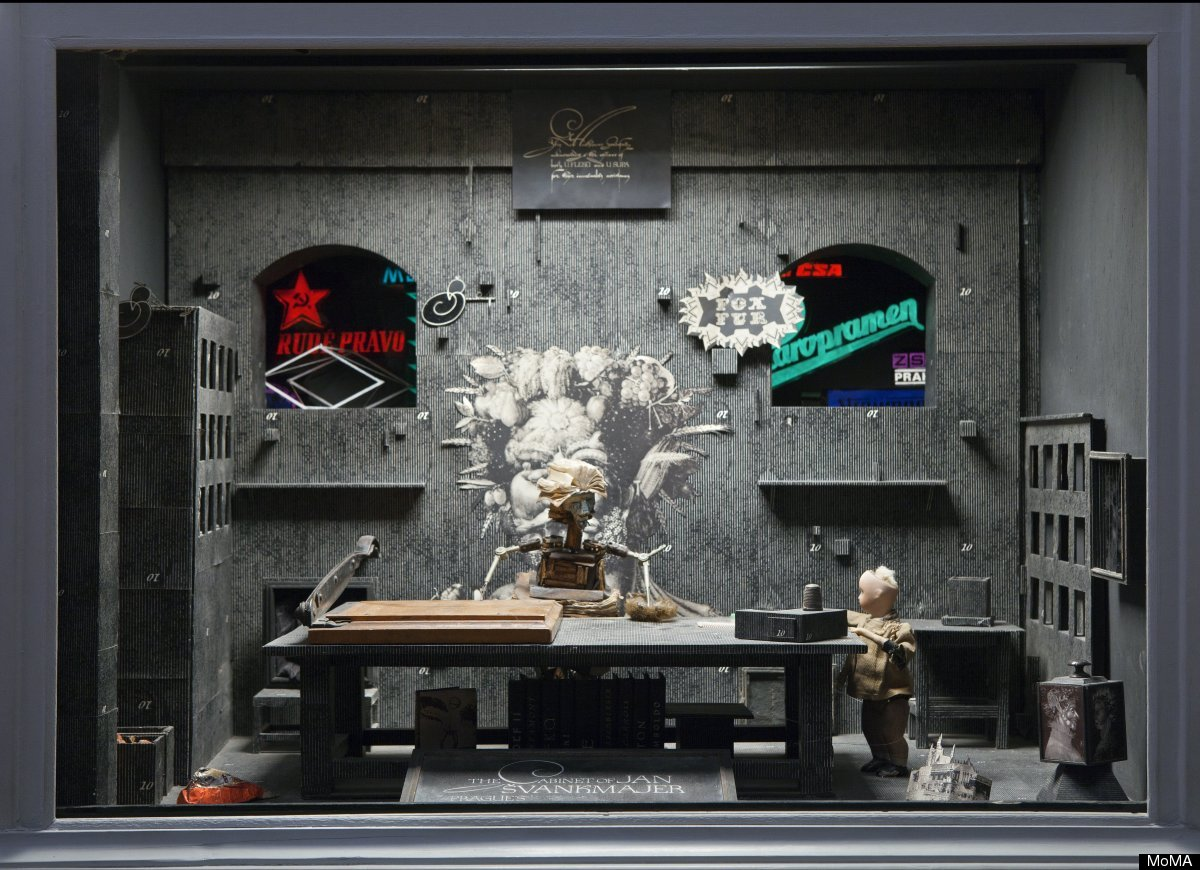 The Alchemist of Prague, decor for the film The Cabinet of Jan Švankmajer. 1984. Wood, fabric, glass, and metal, 37