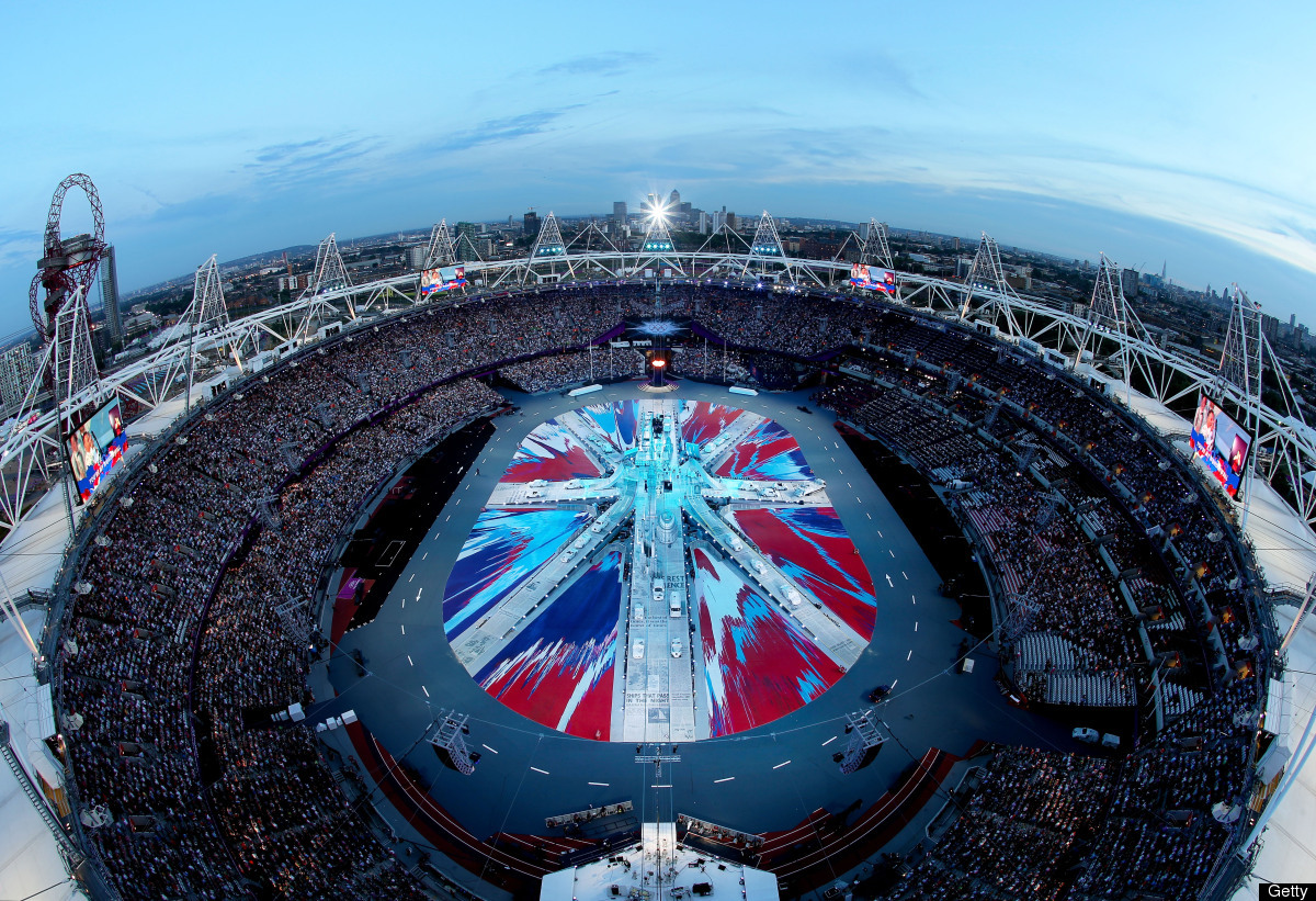 LONDON, ENGLAND - AUGUST 12:  A general view of the stadium during the Closing Ceremony on Day 16 of the London 2012 Olympic