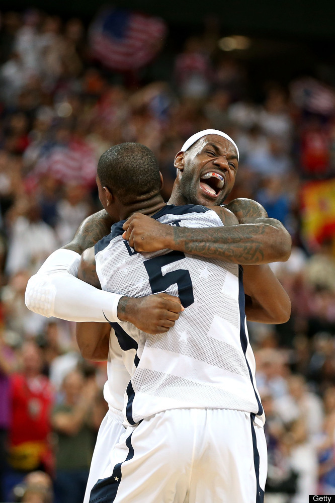 Kevin Durant gets crushed in LeBron's happy place.