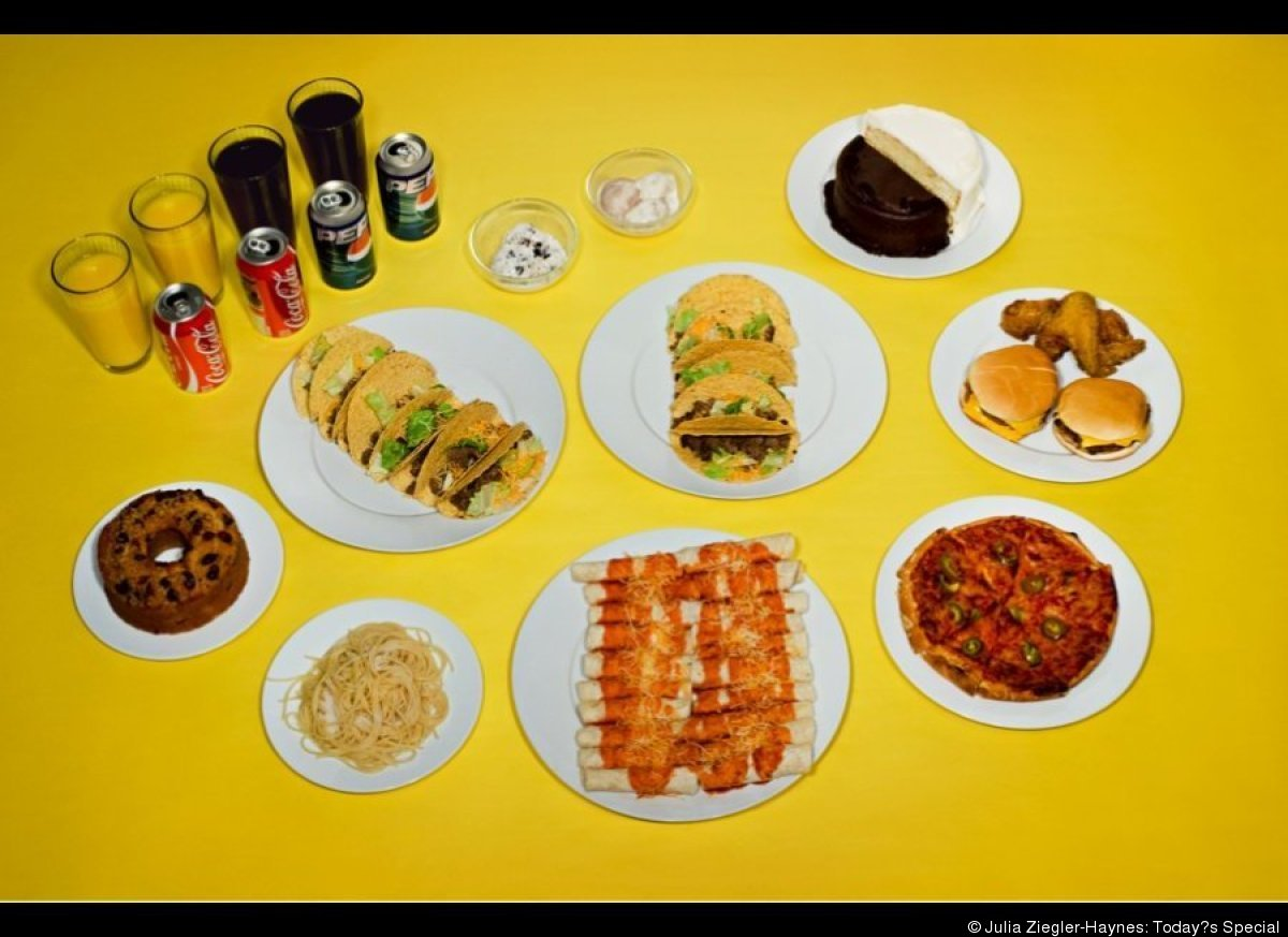 PETER J. MINIEL. October 6, 2004. Twenty beef tacos, twenty beef enchiladas, two double cheeseburgers, a pizza with jalapeños
