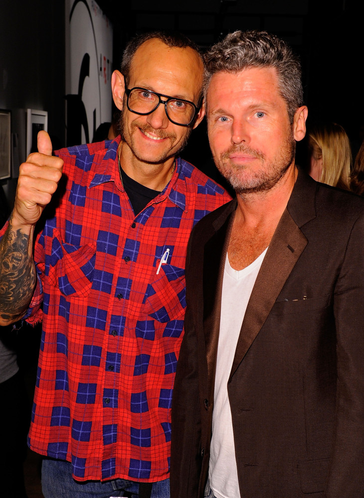 Photographer Terry Richardson and Bill Powers attends the annual RxART PARTY! sponsored by CHANEL Beaute at Highline Stages o