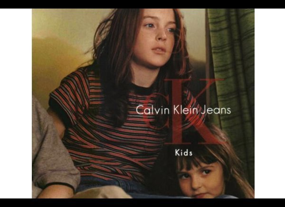 Lindsay Lohan was signed with Ford Models when she was three and appeared in ads for Calvin Klein Kids, Abercrombie Kids and