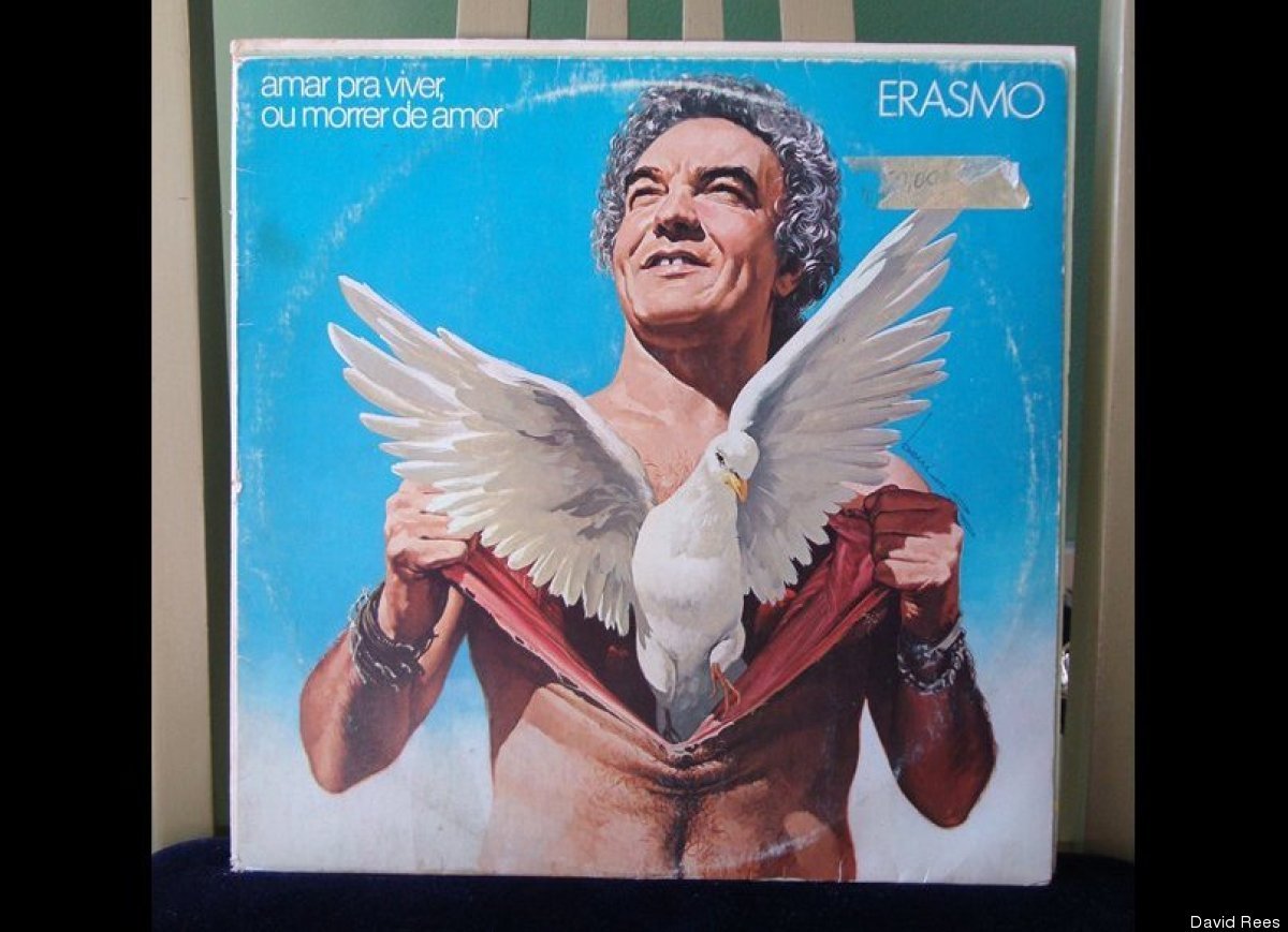 Amar Pra Viver, Ou Morrer De Amor (Erasmo) / Polydor, 1982 / Bought in Washington, D.C. / Buying LPs for tacky cover art is a