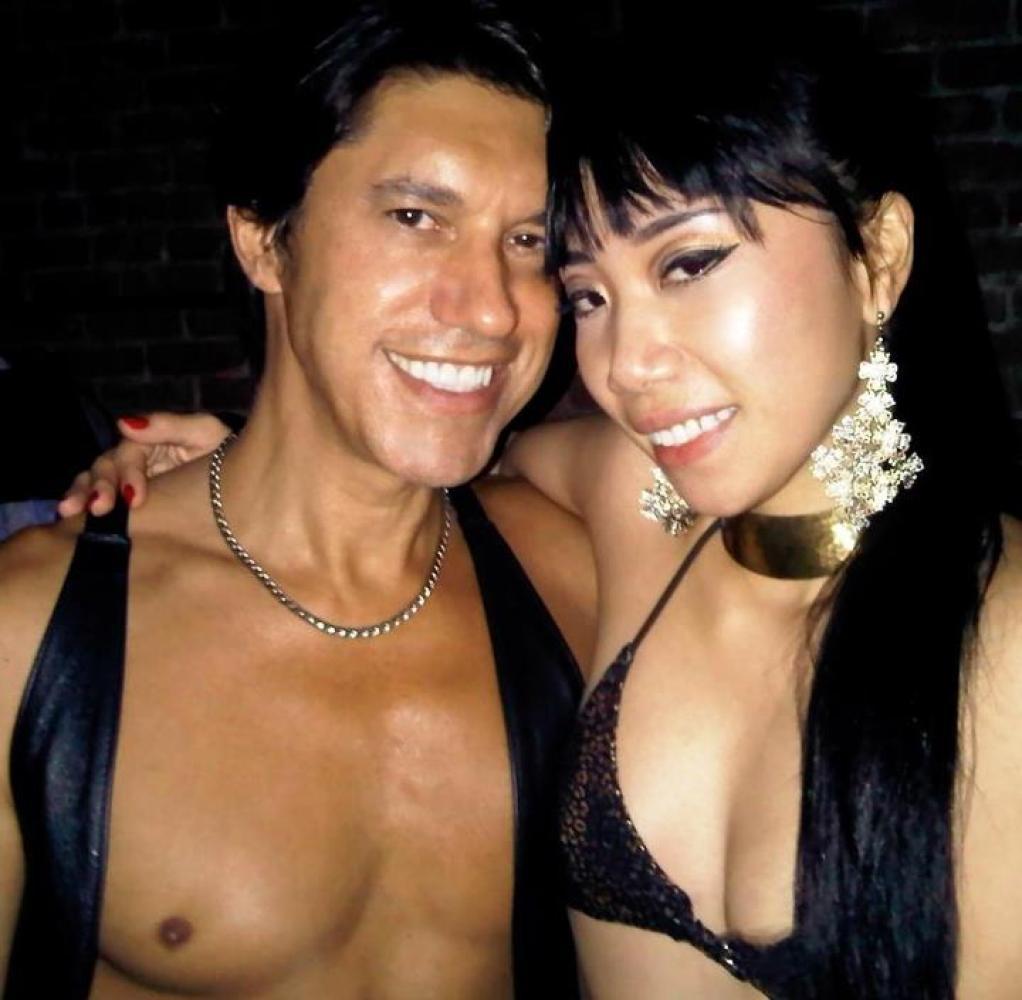 Frankie Santiago with her onetime beau, Edward Sonderling.