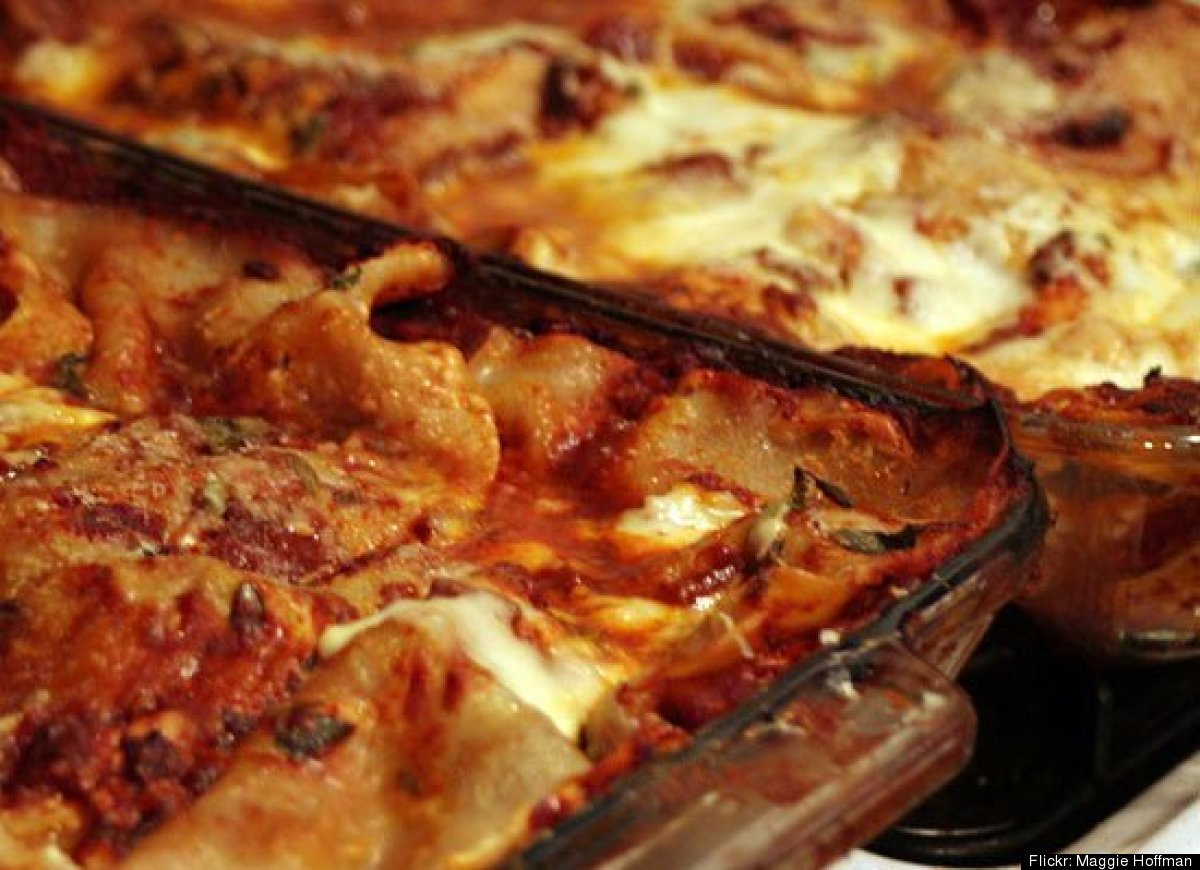 There's something unsatisfying about a lasagna that's cooked just through -- it should always be slightly burned. There's a r
