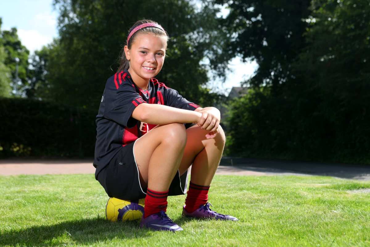 Aisha Saini, 10, from Lenzi, East Dunbartonshire, couldnt believe her luck when she took part in a family holiday kick around