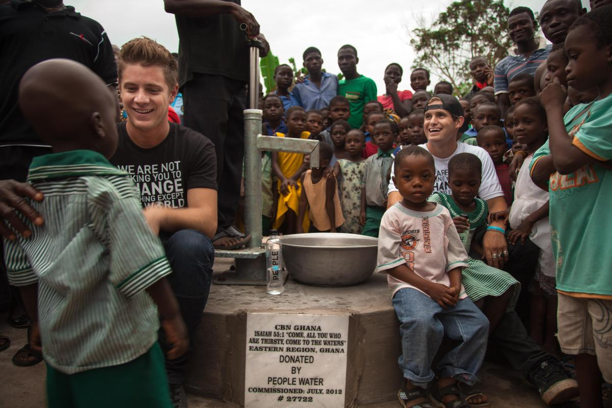 """The Bachelorette"" Emily Maynard and her fiancee, Jef Holm, traveled to Ghana early this month to visit villages where Holm's"