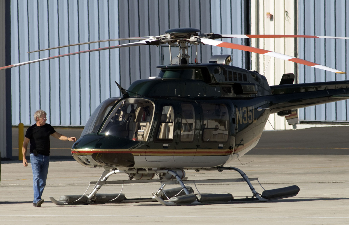 Harrison Ford not only flies planes but also owns a helicopter, and has even offered up his services to local authorities nea