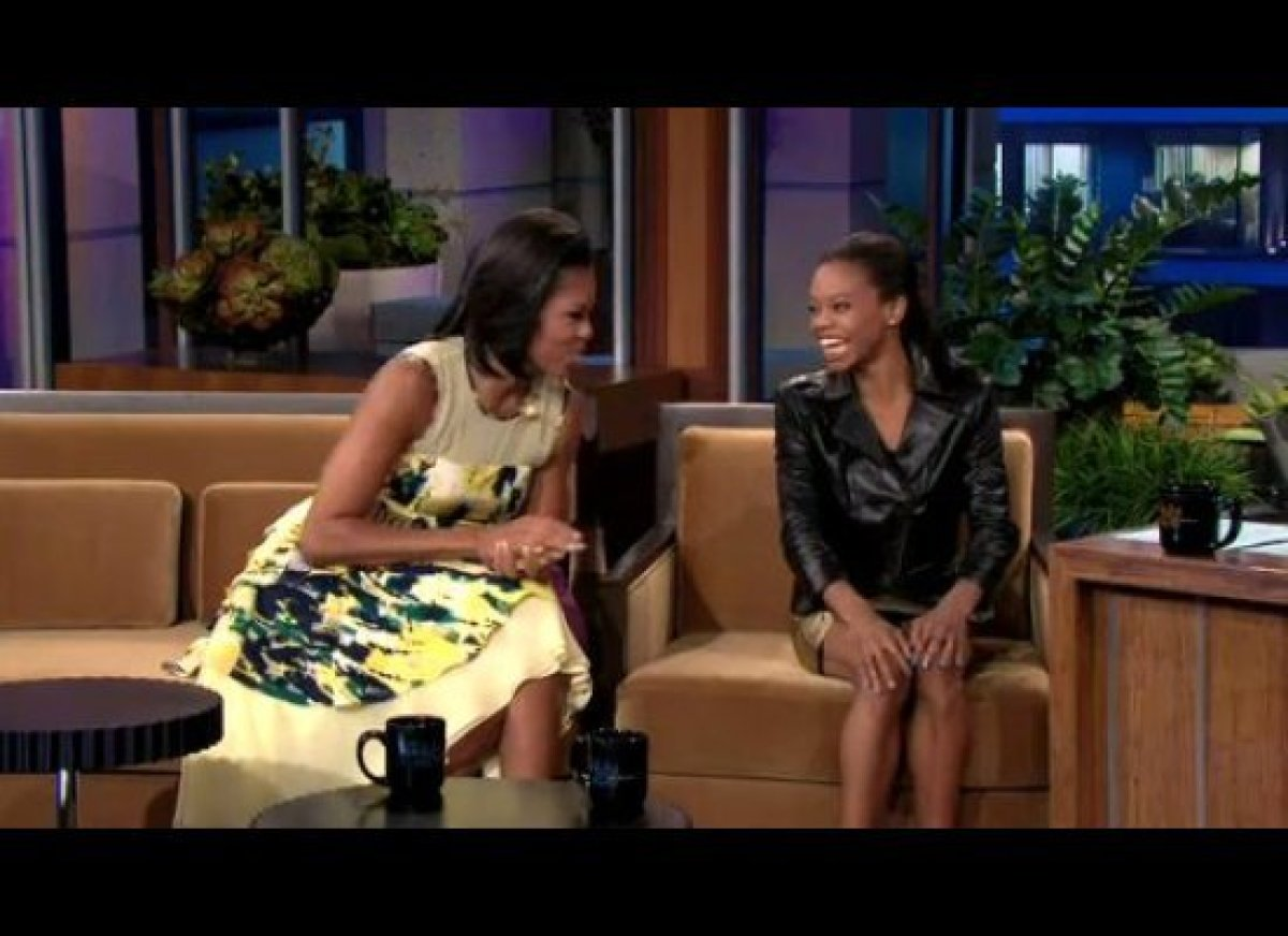 """In their ridiculously charming appearance on the <i>Tonight Show</i>, Gabby Douglas sets back <a href=""""http://gtcha.me/zYYlMG"""