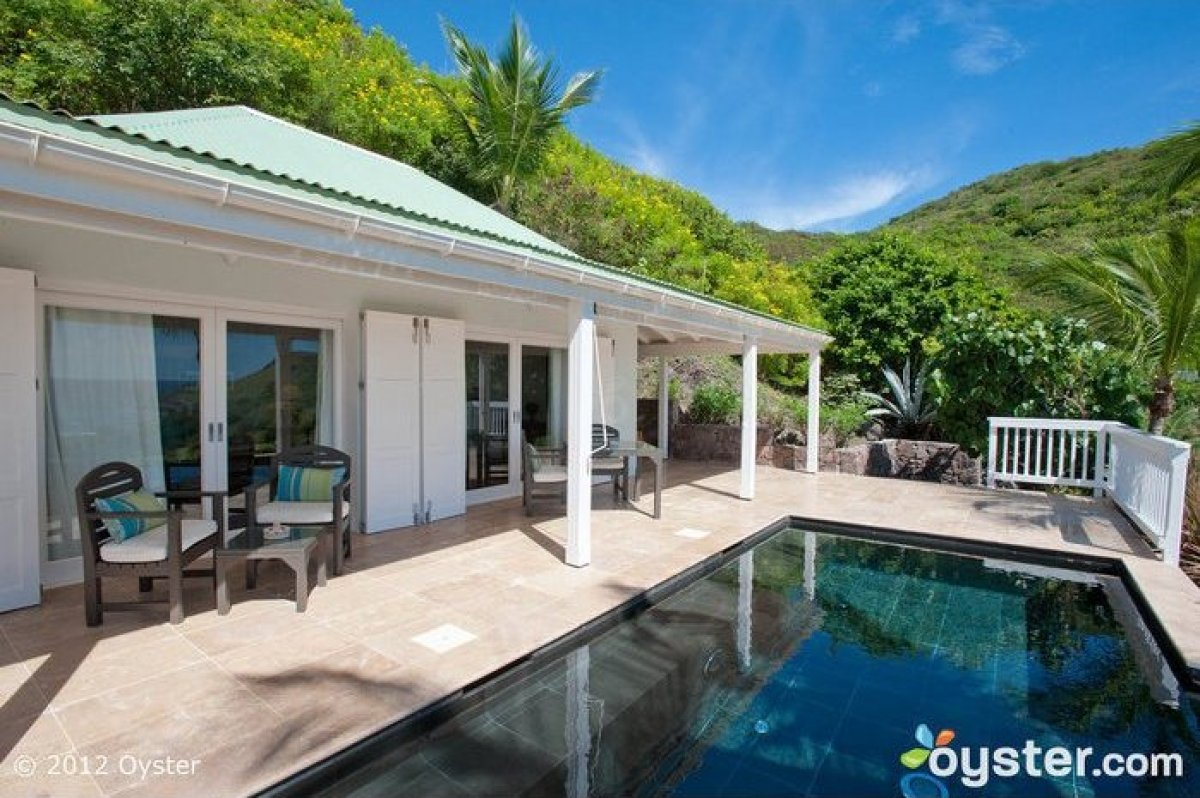 Undoubtedly one of the most prestigious hotels in St. Barts, this exclusive 15-villa luxury resort sits amid 28 lush acres of